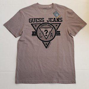 New Men's GUESS Jeans Triangle Logo Shirt sz M